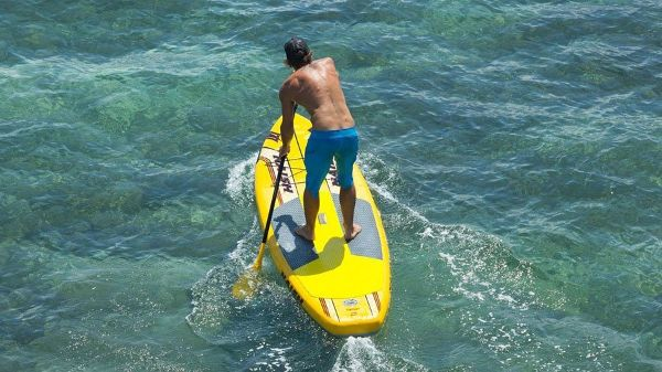2015 Naish Glide Air inflatable stand up paddle board Review
